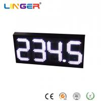 China 888.8 Led Gas Price Sign , White Color Digital Gas Station Price Signs For Single Side wholesale