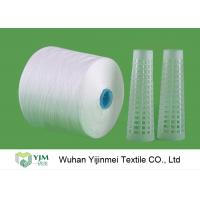 China Knotless Bright Virgin Sewing 100 Spun Polyester Yarn 42/2 Counts Low Elongation wholesale