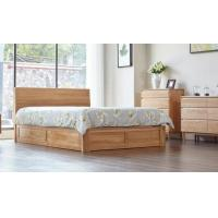 China Family Tall King Size Wooden Bed Base , Solid Wood Queen Bed Frame Eco - Friendly wholesale