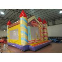China Waterproof Funny Inflatable Jump House 5 X 5m , Kids Bounce House Silk Printing wholesale