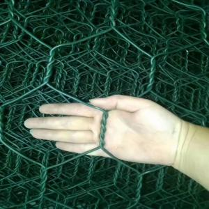 China Green Color 60x80mm 2.0mm Dia Pvc Coated Gabion Baskets wholesale
