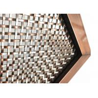 China Surface Finished Services Architectural Woven Wire Mesh With Pattern Design wholesale