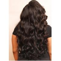 China 24inch Virgin Cambodian Hair Tangle Free Natural Black Jerry Curly wholesale