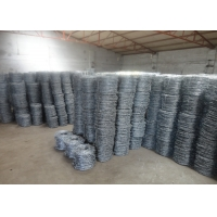 China 15cm PVC Coated Wire Barbed Fence For Lawn Railways wholesale