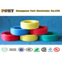 China Braid Shielding Teflon Heating Wire , 300V Rating Voltage FEP Flat Electrical Wire wholesale