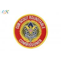 China Ryan Thread Boy Scout Patches / Polyester Material Merrow Border Patch For Clothing wholesale