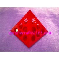 China Rotary Colorful Triangle Acrylic Coffee Capsule Display Stand For Retail Store wholesale
