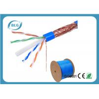 China STP Cable Ethernet Cat 6 8 Conductor Solid Bare Copper 23 AWG 550mHz PVC Jacket 1000'' Feet wholesale