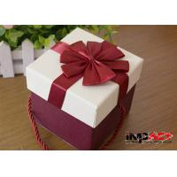 Buy cheap Luxury Rectangle Cardboard Gift Boxes With Handles , Decorative Christmas Gift from wholesalers