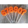 China Orange Mini Number Birthday Candles Zero To Night With 3D Edge And Plastic Holder wholesale