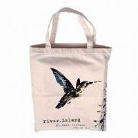 China Cotton Shopping Bag with Silkscreen Logo Printing, Durable, Recyclable and Eco-friendly wholesale