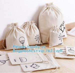 China OEM Organic Cotton Drawstring Bag,Custom design Eco Friendly printing canvas cotton drawstring bag,Muslin Drawstring Bag on sale