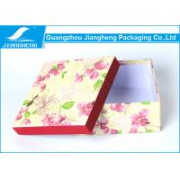 China Empty Christmas Floral Lidded Cardboard Boxes Colored Beautiful Printed on sale