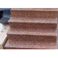 Buy cheap Red Straight Granite Step Treads For Indoor Outdoor Step Finish Optional from wholesalers