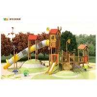 China High Speed Wooden Swing And Climbing Frame Soft Smooth Surface Non Sharp Edge wholesale