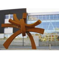 China Modern Large Corten Steel Sculpture For Public Garden Decoration 300cm Height  wholesale