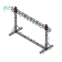 China 290*290mm Goal Post Truss System For Lighting Theatre Stage wholesale