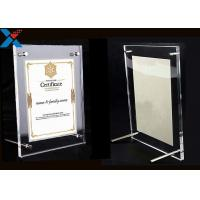 Quality Clear Acrylic Photo Frame A4 A3 Certificate / Business License Frame for sale