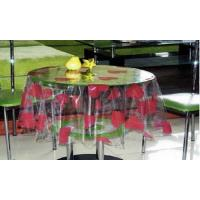 China Custom Clear PVC Table Cloth With Heart Printed For Coffee Shop wholesale