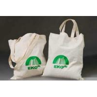 China Custom Logo Printed TC Plain Cotton Carrier Bags / Cotton Tote Bags For Shopping and Packaging wholesale