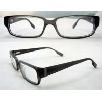 Quality Cool Rectangular Mens Acetate Eyewear Frames, Black Optical Eyeglasses Frame for sale