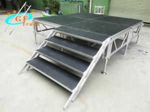 China 3Floors GF 1.22*1.22M Aluminum Platform Stage For Concert wholesale