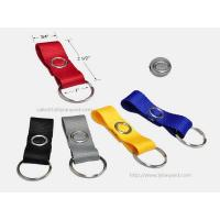 China Short Polyester Flat Key Chain Strap, Fashion Fabric Key Chain with Metal Snap Closure wholesale