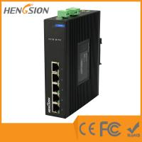 Buy cheap Din Rail 5 Port Industrial Network Switch Dual Power Supply Ethernet Switch from wholesalers
