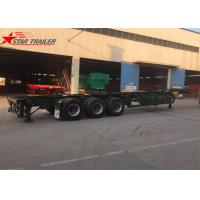 China 3 Axles Container Skeletal Trailers 40ft Skeletal Chassis Use Transport wholesale
