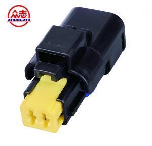 Buy cheap Black Waterproof Auto Wire Connectors / Waterproof Electrical Connectors 2 Wire from wholesalers