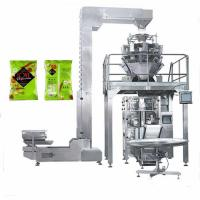 China 10 lane packaging machine multihead weigher,High accuracy 10 head multihead weigher VFFS wholesale