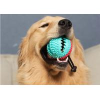 China Tough DogToys Dog Chew Toys Interactive Treat Ball with Bell Toothbrush Teeth Cleaning Durable Tough Dog Toys wholesale