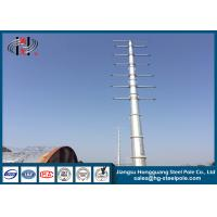 Buy cheap Dodecagonal Hot Dip Galvanized Steel Pole , Steel Transmission Poles For from wholesalers