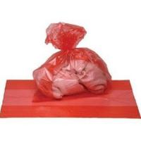 China Red Disposable Plastic Water Soluble Bags For Medical / Hospital Laundry wholesale