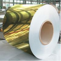 China Golden Painted Aluminium Coil / Mirror Finish Aluminium Sheet Coil 8011 on sale