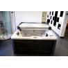 China whirlpool massage tempered glass acrylic freestanding bathtub wholesale