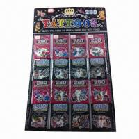 China Nontoxic Tattoo Stickers, Made of PVC and PE Materials, OEM Orders are Welcome wholesale