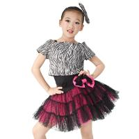 China Animal Prints Zebra Tank Top Polka Dot Cerise Tulle Skirt Outfit Black Leotard Basement includes on sale