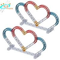 China Love Shape Arch Truss Aluminum Truss System For Wedding Stand Drop Back wholesale