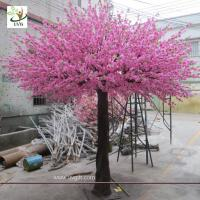 China UVG 10 foot pink peach blossom artificial trees indoor for cheap wedding decorations CHR160 wholesale