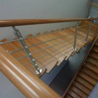 China Wood Handrail Stainless Steel Rod Railing for Staircase Design wholesale