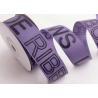 China Character Custom Printed Ribbon , Custom Satin Sashes Black Stamping Foil Logo wholesale