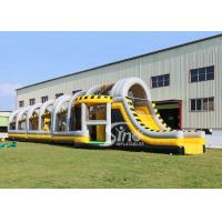Buy cheap 24m long big challenge adults inflatable obstacle course for boot camp or from wholesalers