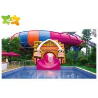 China Outdoor Commercial Swimming Pool Slides High Speed Plastic Material For Playground wholesale