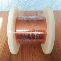 China Ultra Fine 0.02mm Self Bonding Wire Rectangular Enameled Copper Magnet Wire wholesale