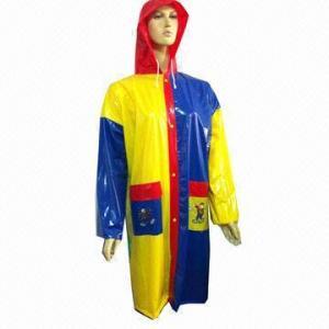 China Multi-color Raincoat, Made of PVC wholesale