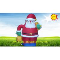 Quality Advertising Replica Durable Inflatable Santa Claus For Christmas Gift Box for sale