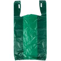 China Green Color Grocery Shopping Bags , Plastic Tee Shirt Bags Environmental Friendly wholesale