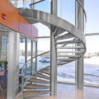 China Modern Outdoor Steel Staircase Design Galvanized Spiral Staircase wholesale