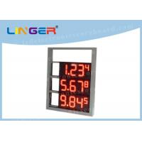 China Multi Functional Digital Gas Price Signs High Brightness OEM / ODM Available wholesale